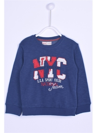 Silversun Kids Mel. Sweat Shirt Örme Uzun Kollu Aplik Desen Nakışlı Sweatshirt Erkek Çocuk Js 74146 Antrasit